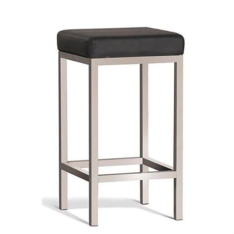Brushed Stainless Steel Counter Stools by Quadro Commercial Grade Brushed Stainless Steel Counter