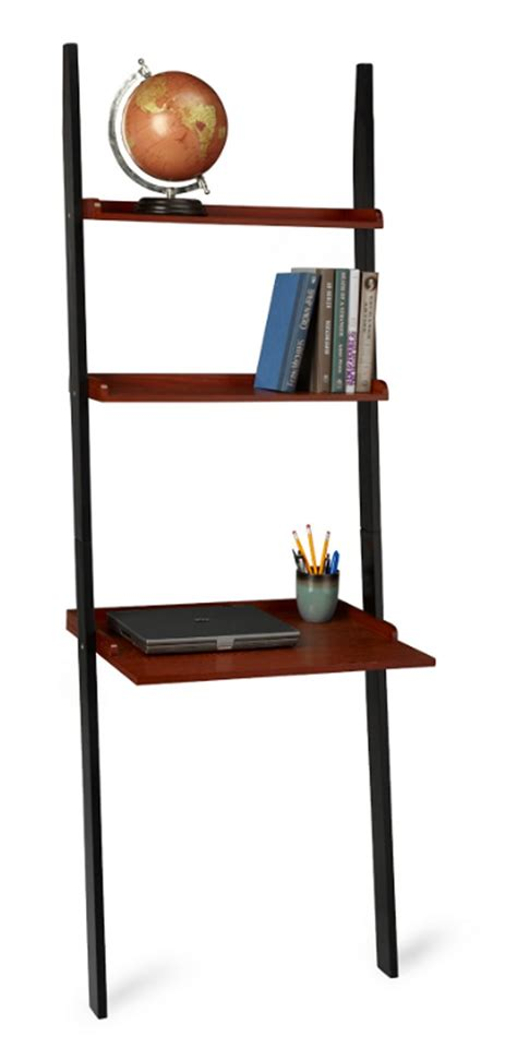 country leaning ladder bookcase wall desk shelf ebay