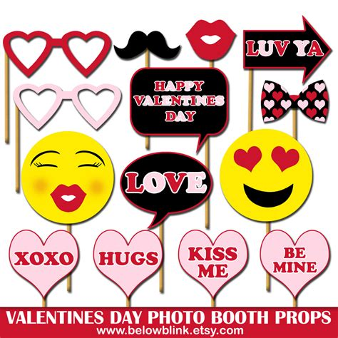 valentines day props happy valentines day photo props printable photo booth props