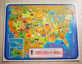 United States Puzzle Map by Vintage 1968 United States Of America Map Puzzle