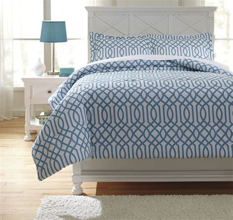 aqua comforter full loomis aqua full comforter set from ashley q758033f