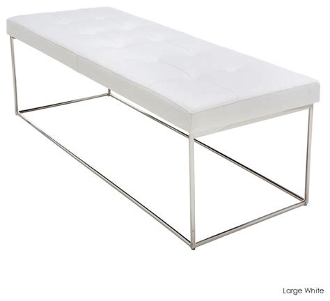 white indoor bench caen bench white large modern indoor benches by inmod