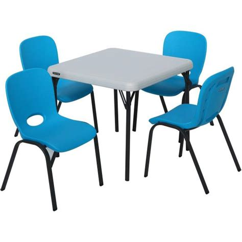 lifetime tables and chairs lifetime table and stacking chairs 80499 1 table and