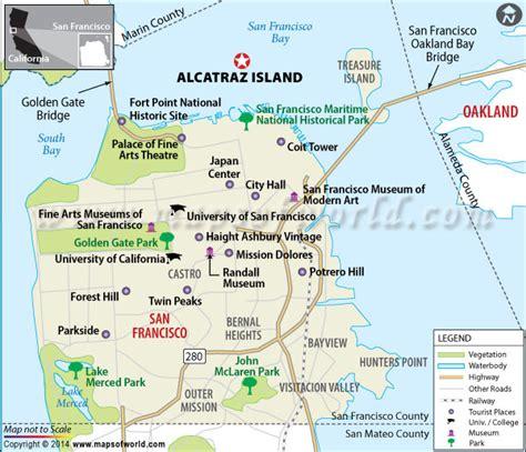 san francisco information map alcatraz island san francisco tickets transport