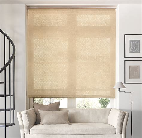 burlap window blinds roller shade