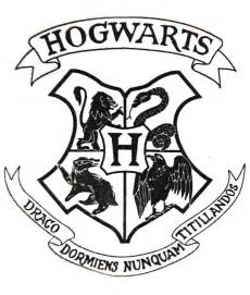 Hogwarts Acceptance Letter Logo Hogwarts Crest Black And White Www Pixshark Images Galleries With A Bite