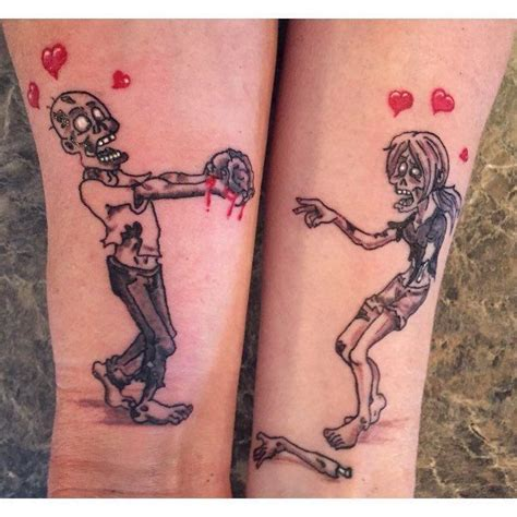 tattoo ideas for couples to get 21 best zombie couple tattoo images on pinterest zombie