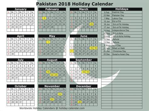 printable calendar 2018 pakistan pakistan 2018 2019 holiday calendar