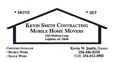 smith house movers kevin smith contracting mobile home movers