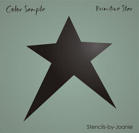 printable primitive star stencil country primitive stencil 9 quot prim star scrapbook signs