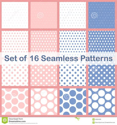 dot pattern types set of sixteen different types polka dots seamless