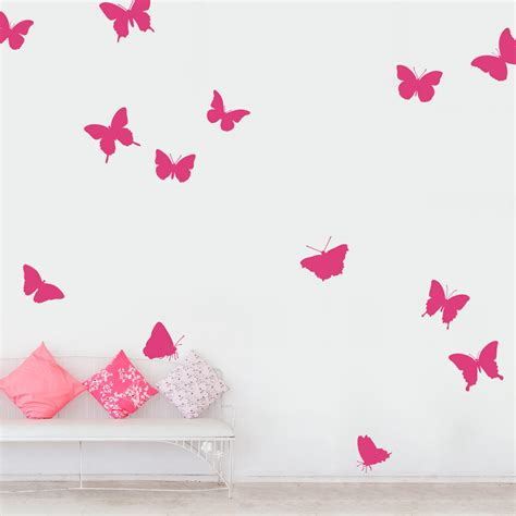 large butterfly wall stickers large butterfly collection wall decal