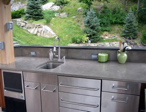 outdoor concrete countertops contemporary patio new