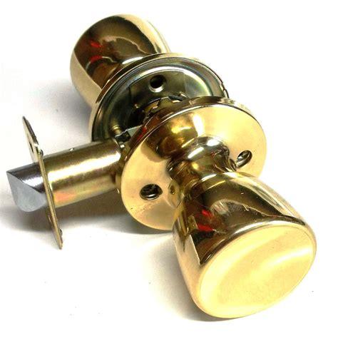 Pantry Door Lock by Passage Door Knob Lockset Bright Brass Lock Closet Pantry