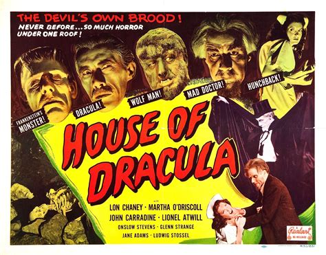 house of dracula poster for house of dracula 1945 usa wrong side of the art