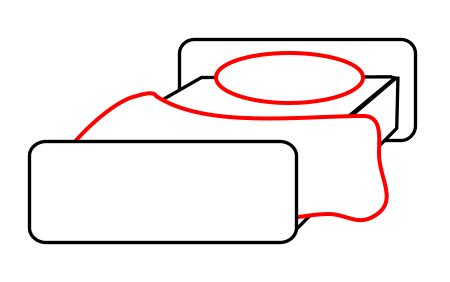 how to draw a bed step by step drawing a cartoon bed