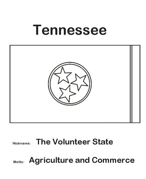 usa printables tennessee state flag state of tennessee