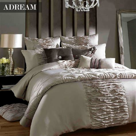 adream 4 pcs luxury bedding set for queen king size