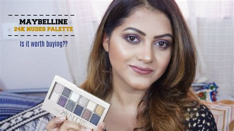Maybelline 24k maybelline 24k palette review india goglam