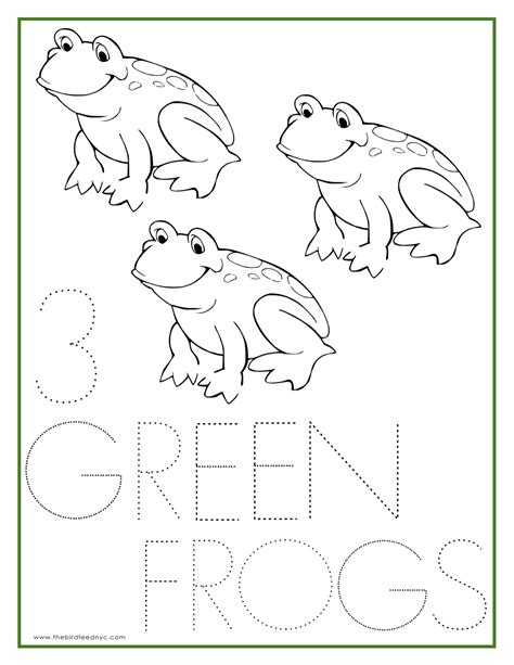 green frog coloring page free coloring pages of green frog