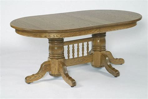 Amish 72 Quot Double Pedestal Oval Dining Table With Center Oval Pedestal Dining Table