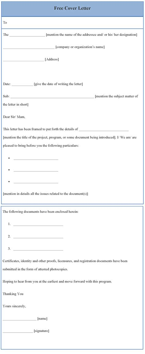 free cover letter template download oyle kalakaari co