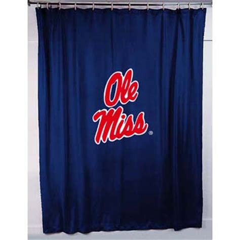 ole miss shower curtain mississippi ole miss rebels locker room shower curtain