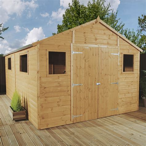 shedswarehouse oxford workshops 12ft x 10ft deluxe tongue groove workshop with