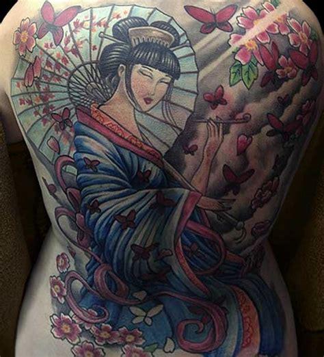 female full back tattoos designs geisha designs and their history