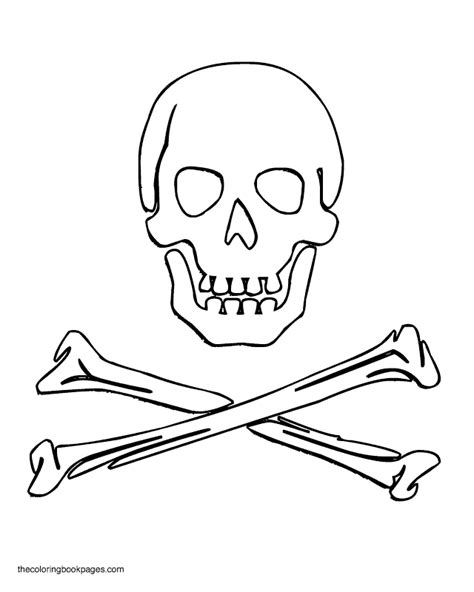 free coloring pages of skull crossbones