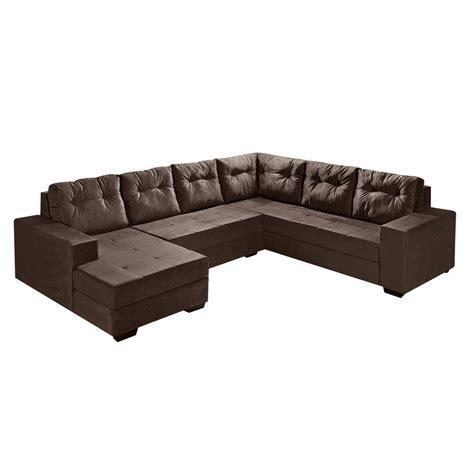 sofas de sof 225 de canto l r 4 lugares e chaise chocolate marrom r