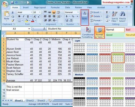 ms excel 2010 home tab tutorial microsoft excel 2007 tutorial home tab softknowledge s