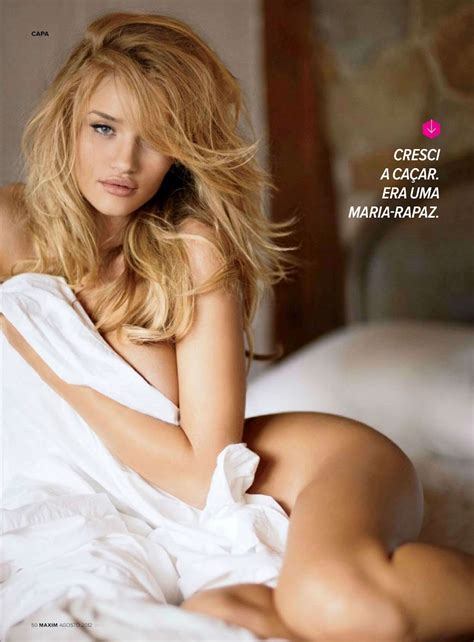 naked women in bed rosie huntington whiteley sexy lingerie photoshoot for