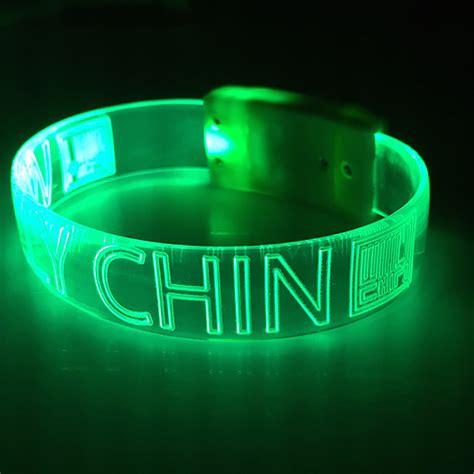 light waves led wristbands personalized custom light