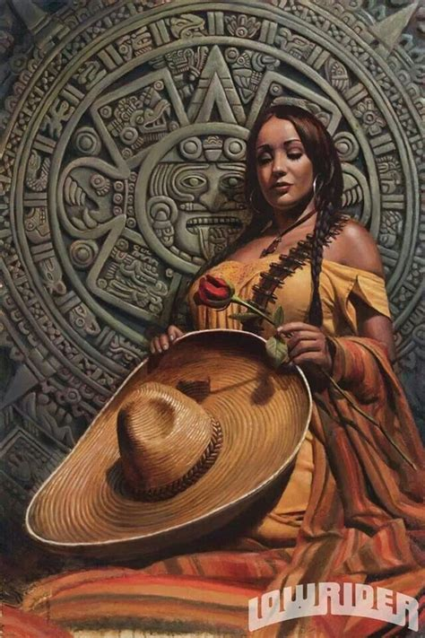 imagenes aztecas chicanas pin by cenaida arreola on lowrider art pinterest