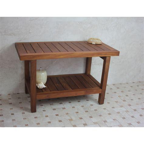 aqua teak shower bench aqua teak spa teak shower bench reviews wayfair