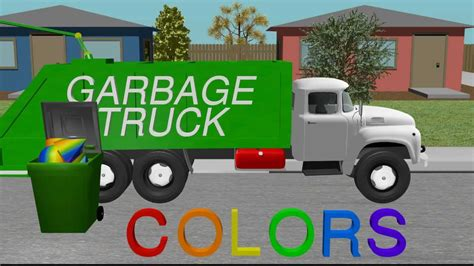 garbage trucks for kids color garbage truck learning for kids youtube