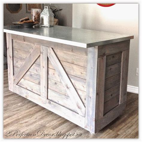 Ikea Bar by Remodelaholic Ikea Hack Rustic Bar With Galvanized Metal Top