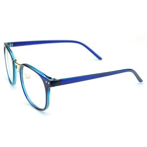 blue oversized eyeglasses cat