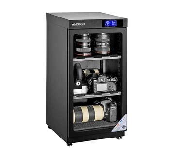Cabinet Ad 50c 50l lcd digital display dehumidity cabinet for lens