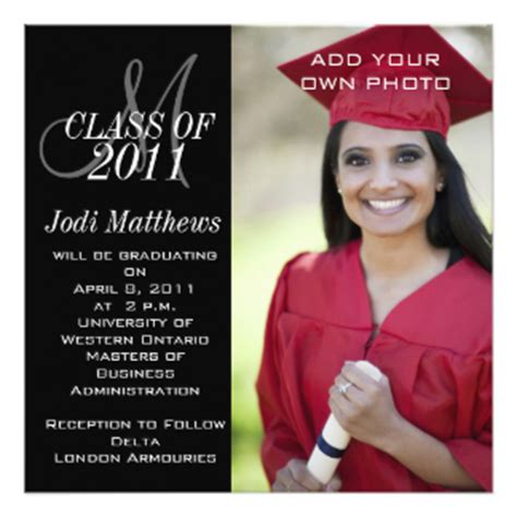 Mba Graduation Announcements Cards by Graduation Invitations Zazzle