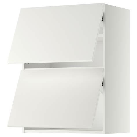 Wandschrank 30 Cm Tief by Metod Wall Cabinet Horizontal W 2 Doors White H 228 Ggeby