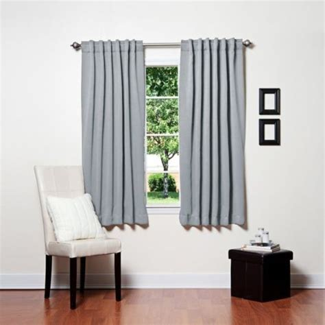 light grey blackout curtains aleko light grey 52 quot x63 quot solid thermal insulated blackout