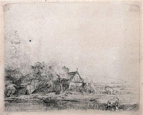 Landscape Architecture Quizlet Rembrandt Etching Landscape With A Cow C 1650