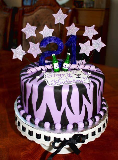 purple  black zebra striped st birthday cake cakes    birthday cake st