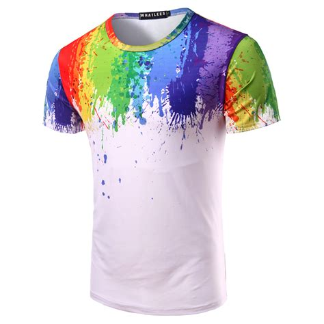 patterns for t shirt painting new 2017 summer men s slim casual t shirt stereoscopic