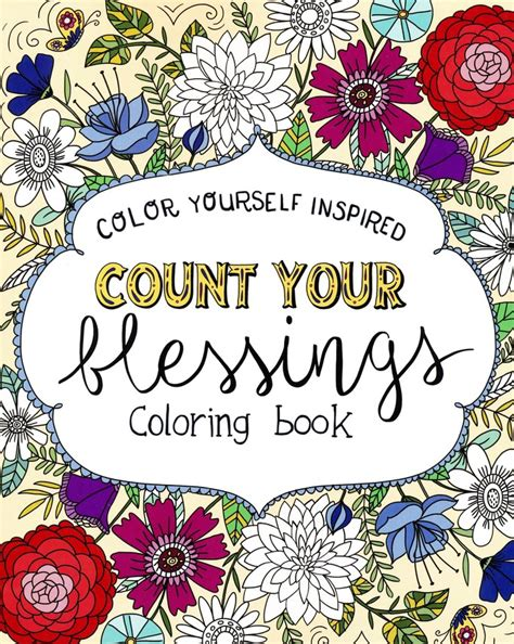 coloring book yourself count your blessings coloring book color yourself