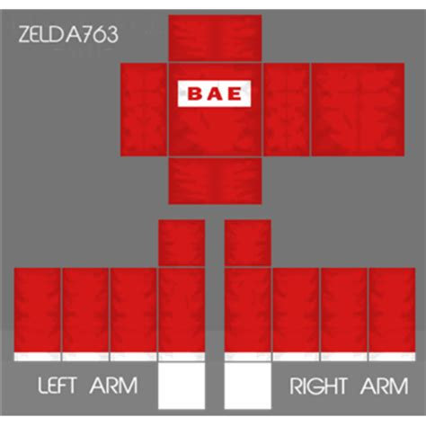 red bae shirt roblox