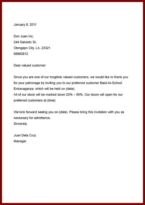 Business Letter Format Letter Writing Guide sle business letter business letter exle sle