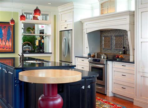 cool  colorful kitchens